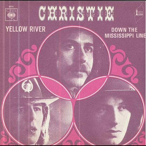 """""""Yellow River"""" es un tema escrito por Jeff Christie. Inicialmente se la ofrecieron a The Tremeloes, pero la rechazaron ya que preferieron grabar sus propios ... - Christie-Yellow-River"""